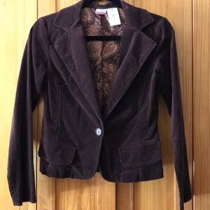 Brown corduroy blazer